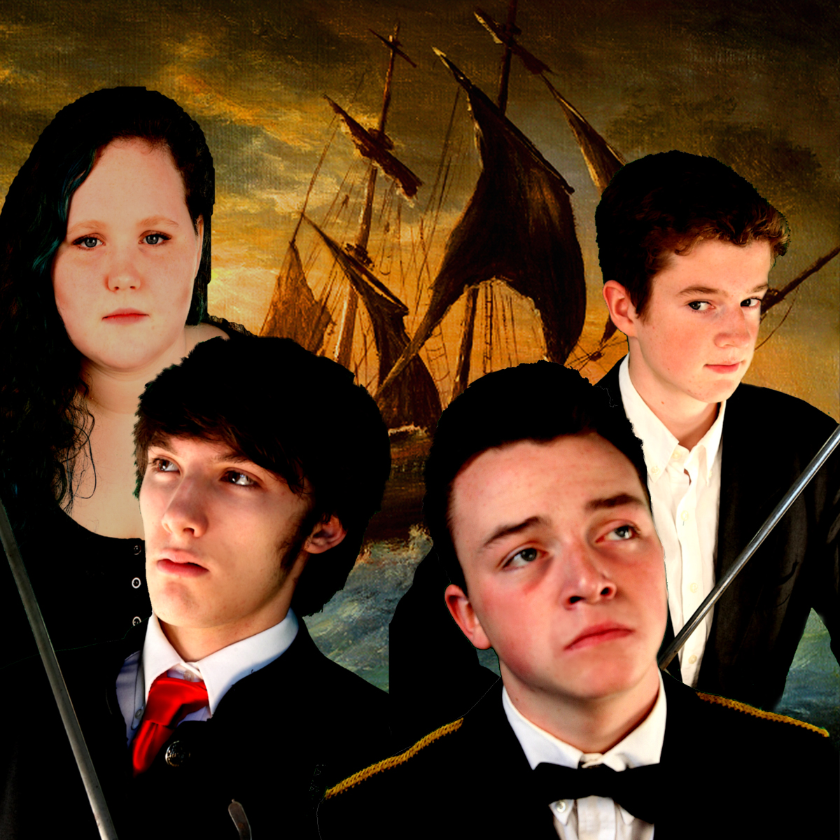 Kathleen Keene as Gonzalo, Will Anderson as Antonio, Cameron Duwe as Alonso, Miles Keefe as Sebastian,