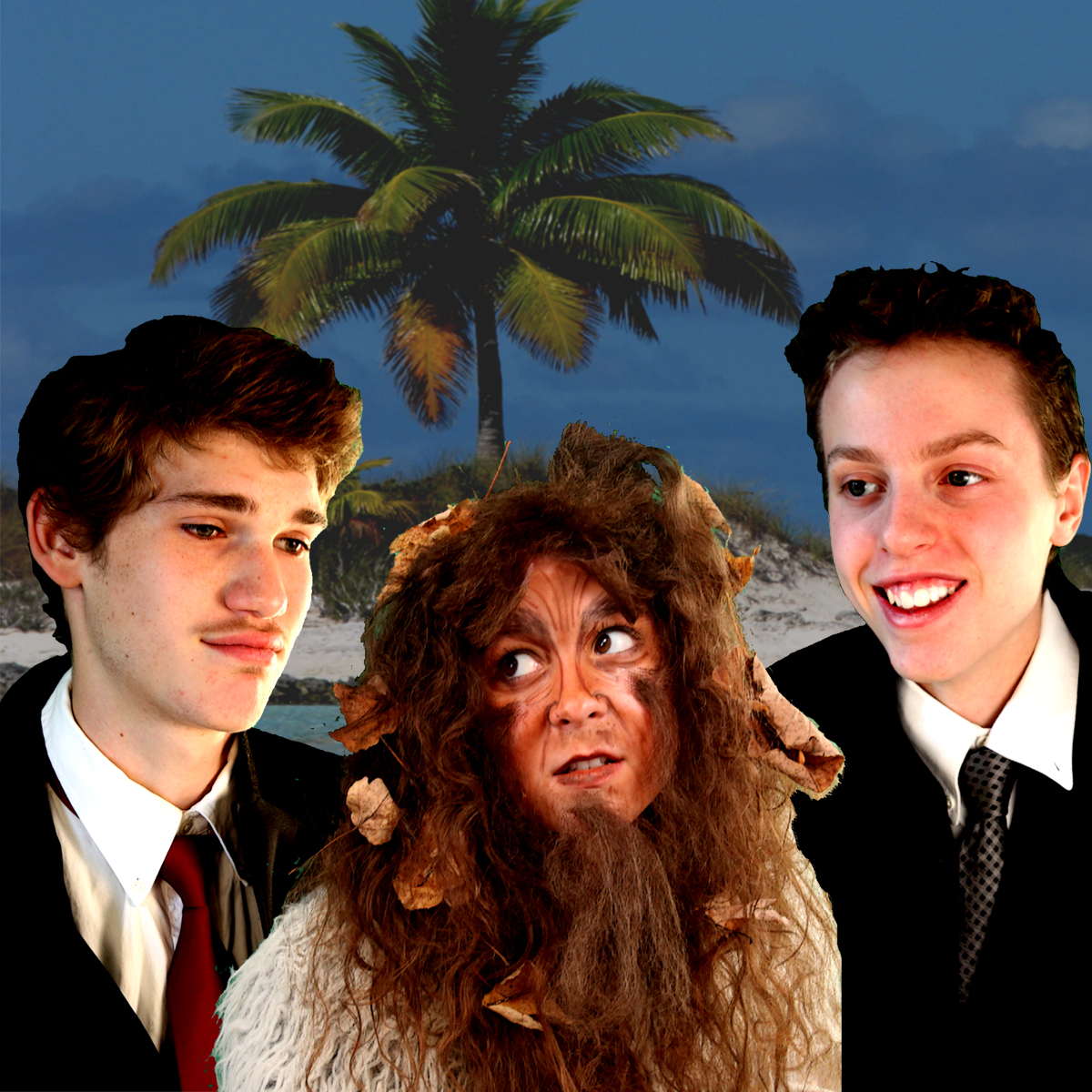 Robert Willard as Stephano, Anna Dempf as Caliban, and Ari Miller as Trinculo