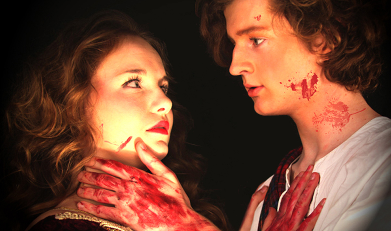 Hannah Thien and Miles Keefe as Lady and Lord Macbeth
